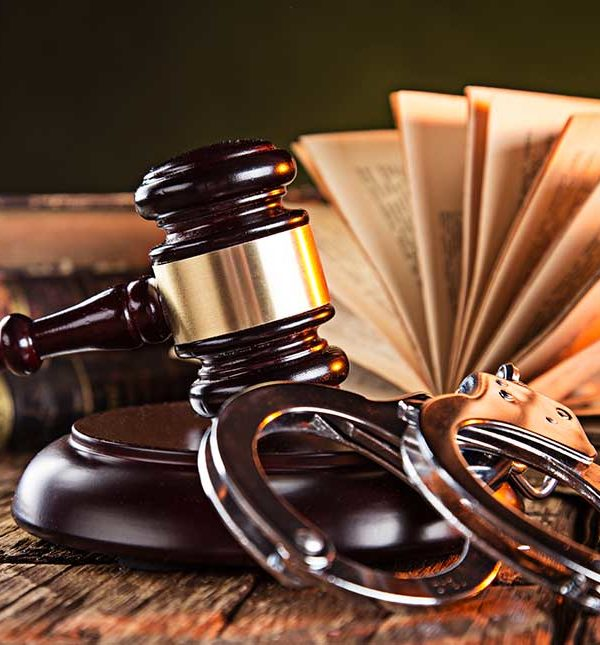 gavel and hook plus handcuffs