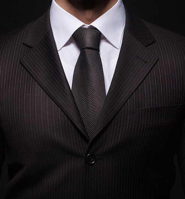 formal attire of a man